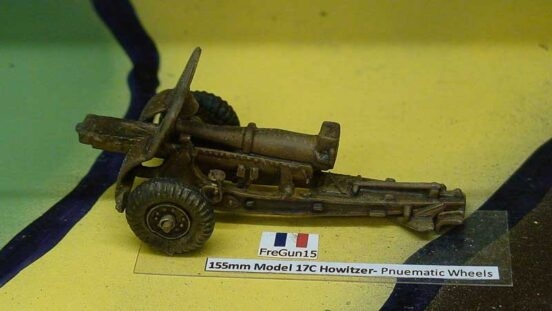 155mm Model 17C Howitzer- Pneumatic Wheels