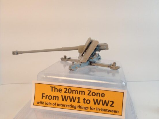 1 x  8.8cm PAK 43 anti tank gun  on a cruciform mount.
