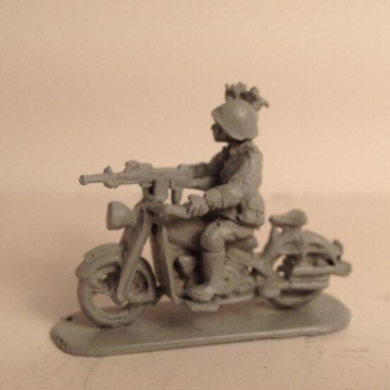 Motto Guzzi 500  motorcycle with Front mounted Breda 1930 LMG
