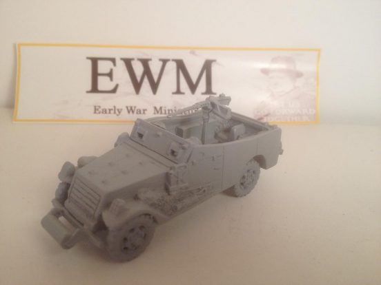 M3 armoured scout car early war with .50 hmg on pintal & 2 crew.