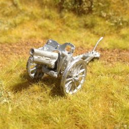 4.5 inch howitzer with accessories on spoked wheels