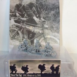 Machine gun team of 3 Cyclists, with HMG on bicycles
